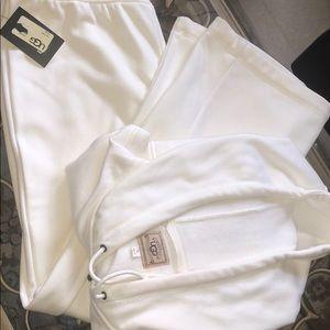 UGG Cream Fleece-Lined Hoodie and Pants Size XL